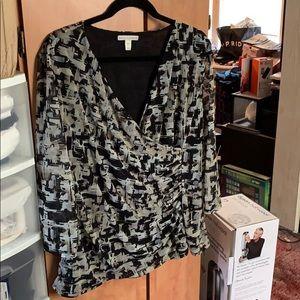 Dana Buchman faux wrap blouse
